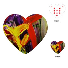 Fish And Bread1/2 Playing Cards (heart)  by bestdesignintheworld
