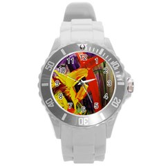 Fish And Bread1/2 Round Plastic Sport Watch (l) by bestdesignintheworld