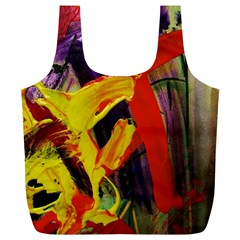 Fish And Bread1/2 Full Print Recycle Bags (l)  by bestdesignintheworld