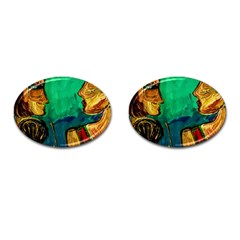 Young Witches Cufflinks (oval) by bestdesignintheworld