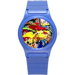 Yellow Roses 3 Round Plastic Sport Watch (s) by bestdesignintheworld