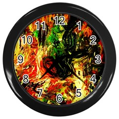Sunset In A Desert Of Mexico Wall Clocks (black) by bestdesignintheworld