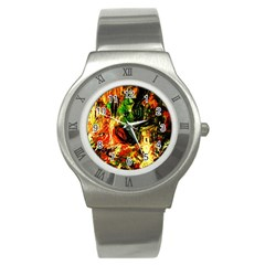 Sunset In A Desert Of Mexico Stainless Steel Watch by bestdesignintheworld