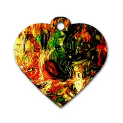 Sunset In A Desert Of Mexico Dog Tag Heart (two Sides) by bestdesignintheworld