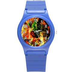 Sunset In A Desert Of Mexico Round Plastic Sport Watch (s) by bestdesignintheworld