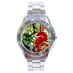 Irish Clock Stainless Steel Analogue Watch by bestdesignintheworld