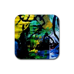 Rumba On A Chad Lake 10 Rubber Coaster (square)  by bestdesignintheworld