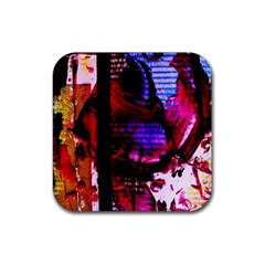 Absurd Theater In And Out 4 Rubber Square Coaster (4 Pack)  by bestdesignintheworld