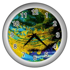 One Minute Egg 4 Wall Clocks (silver)  by bestdesignintheworld