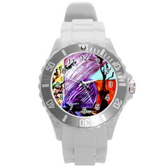 House Will Be Built 10 Round Plastic Sport Watch (l)