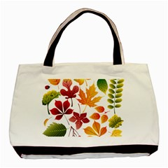 Beautiful Autumn Leaves Vector Basic Tote Bag by Nexatart