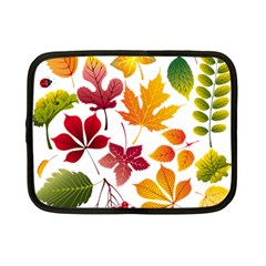Beautiful Autumn Leaves Vector Netbook Case (small)  by Nexatart