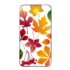 Beautiful Autumn Leaves Vector Apple Iphone 4/4s Seamless Case (black)