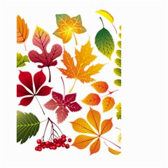 Beautiful Autumn Leaves Vector Small Garden Flag (two Sides)