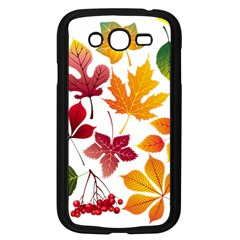 Beautiful Autumn Leaves Vector Samsung Galaxy Grand Duos I9082 Case (black)