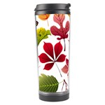Beautiful Autumn Leaves Vector Travel Tumbler Left
