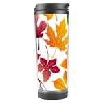 Beautiful Autumn Leaves Vector Travel Tumbler Center