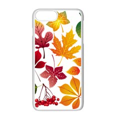 Beautiful Autumn Leaves Vector Apple Iphone 7 Plus Seamless Case (white)