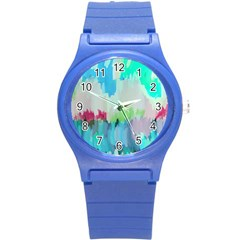 Abstract Background Round Plastic Sport Watch (s) by Modern2018