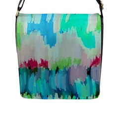 Abstract Background Flap Messenger Bag (l)  by Modern2018