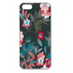 Floral Pattern Apple Seamless Iphone 5 Case (clear) by goodart