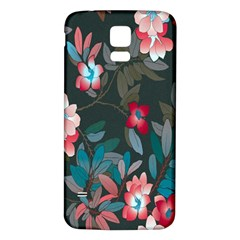 Floral Pattern Samsung Galaxy S5 Back Case (white) by goodart