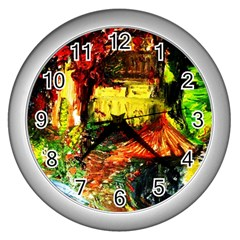 St Barbara Resort Wall Clocks (silver)  by bestdesignintheworld