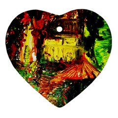 St Barbara Resort Heart Ornament (two Sides) by bestdesignintheworld
