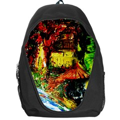 St Barbara Resort Backpack Bag by bestdesignintheworld