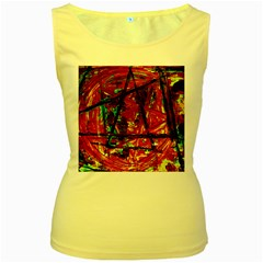 Sacred Marks Women s Yellow Tank Top by bestdesignintheworld