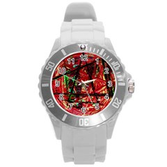 Sacred Marks Round Plastic Sport Watch (l) by bestdesignintheworld