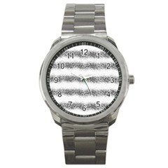 Stripe Black Sport Metal Watch