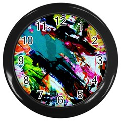 Tulips First Sprouts 6 Wall Clocks (black) by bestdesignintheworld
