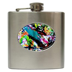 Tulips First Sprouts 6 Hip Flask (6 Oz) by bestdesignintheworld
