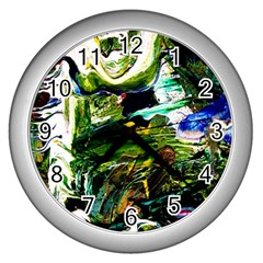 Bow Of Scorpio Before A Butterfly 8 Wall Clocks (silver)  by bestdesignintheworld