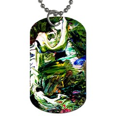 Bow Of Scorpio Before A Butterfly 8 Dog Tag (two Sides) by bestdesignintheworld