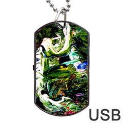 Bow Of Scorpio Before A Butterfly 8 Dog Tag Usb Flash (two Sides) by bestdesignintheworld