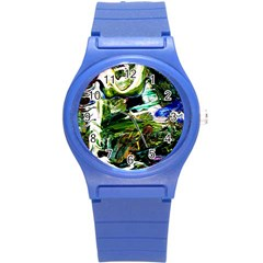 Bow Of Scorpio Before A Butterfly 8 Round Plastic Sport Watch (s) by bestdesignintheworld