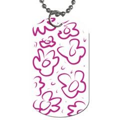 Flower Pink Dog Tag (one Side) by goodart