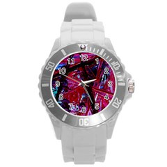Sacred Knowledge 1 Round Plastic Sport Watch (l) by bestdesignintheworld