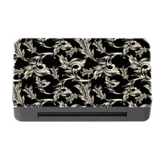 Floral Pattern Black Memory Card Reader With Cf by goodart