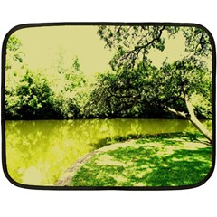 Lake Park 9 Double Sided Fleece Blanket (mini)  by bestdesignintheworld