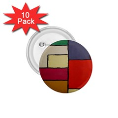 Color Block Art Painting 1 75  Buttons (10 Pack) by goodart