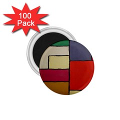 Color Block Art Painting 1 75  Magnets (100 Pack)