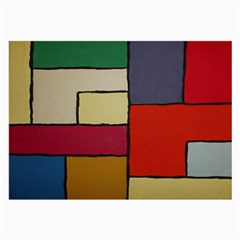 Color Block Art Painting Large Glasses Cloth by goodart