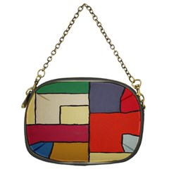 Color Block Art Painting Chain Purses (one Side)  by goodart