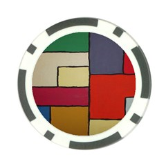 Color Block Art Painting Poker Chip Card Guard (10 Pack) by goodart