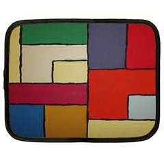 Color Block Art Painting Netbook Case (xl)  by goodart