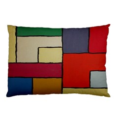 Color Block Art Painting Pillow Case (two Sides) by goodart