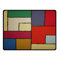 Color Block Art Painting Double Sided Fleece Blanket (small)  by goodart